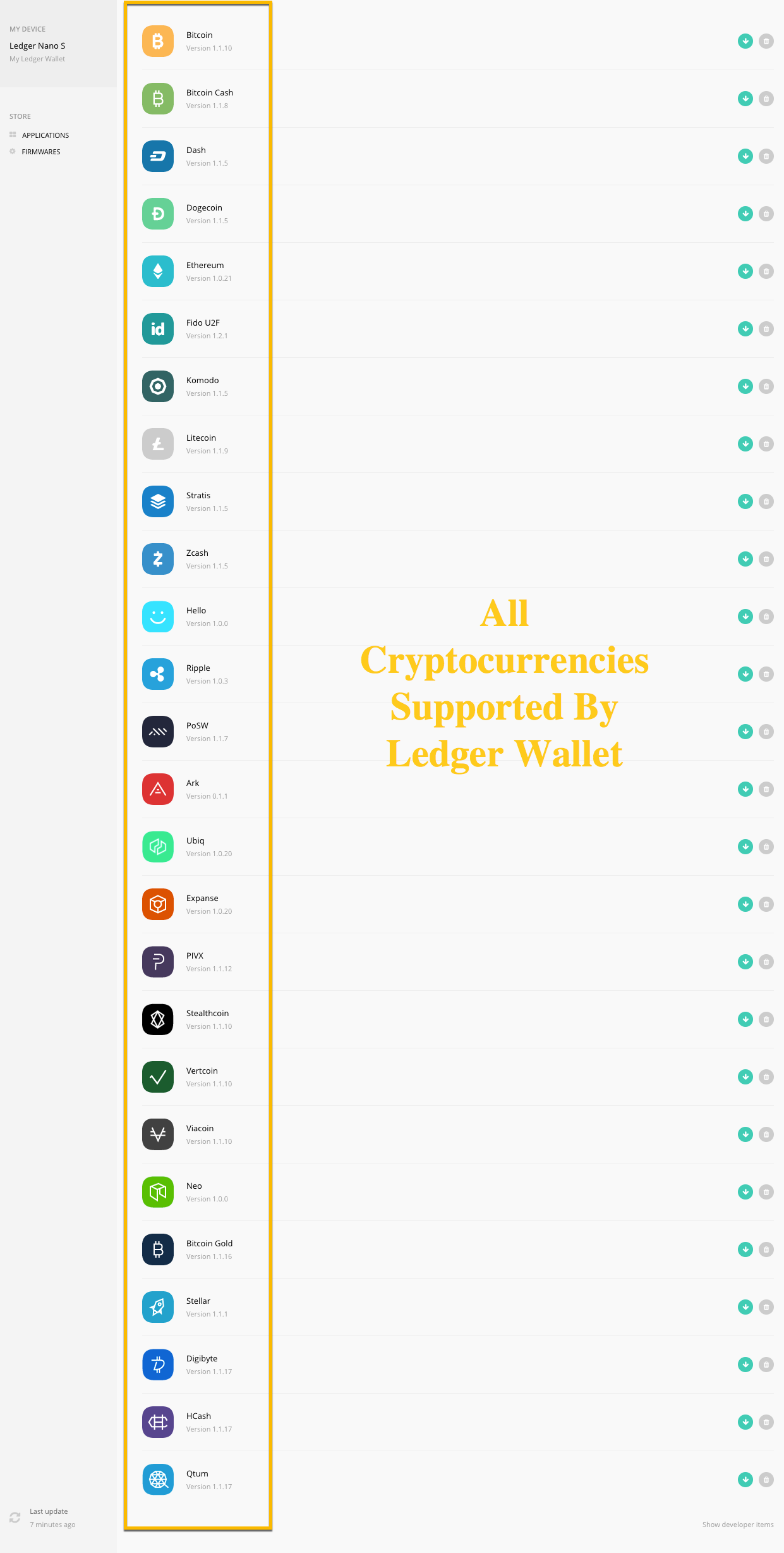 All Cryptocurrencies Supported By Ledger Wallet-CoinGyan