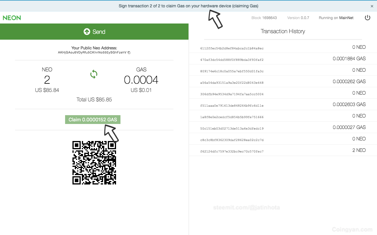 The Complete Guide to Use NEO in Ledger Wallet and Claim Your Free GAS 3