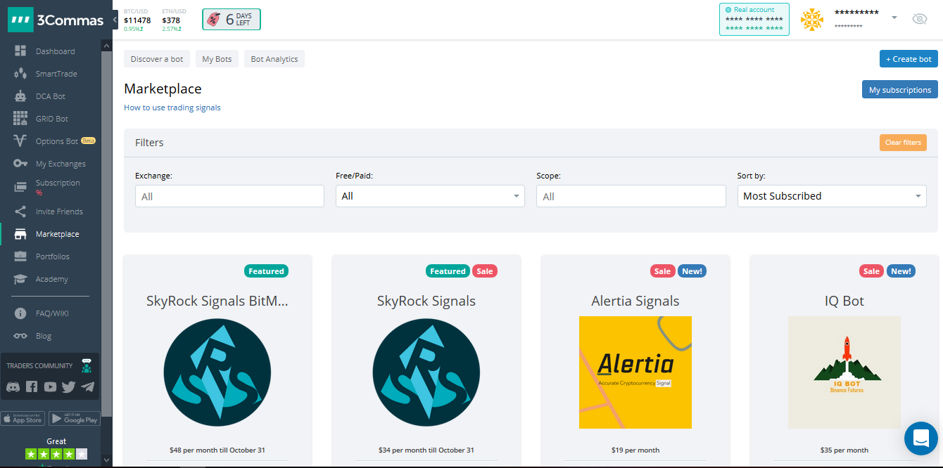 3Commas Cryptocurrency Trading Bot Platform