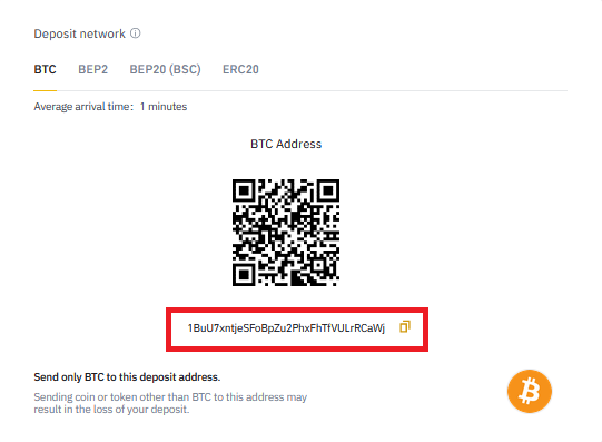 How to Deposit in Binance 3- CoinGyan