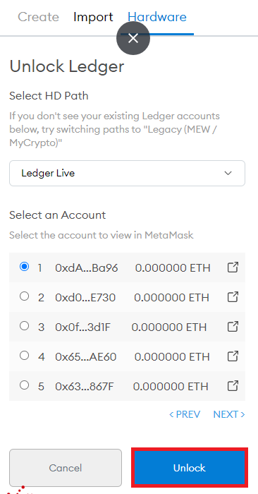 Connect Ledger Nano X to MetaMask 3 - CoinGyan