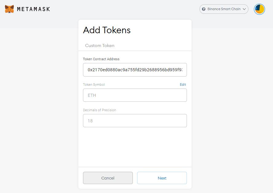 Send BEP 20 Token to MetaMask 3 - CoinGyan